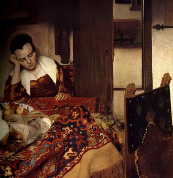 Johannes Vermeer : A Maid Asleep